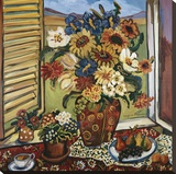 Sunflowers At Window