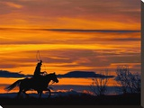 Ropin' at Sunset