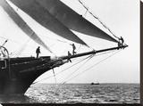 Ship Crewmen Standing on the Bowsprit  1923