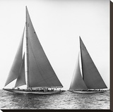 Sailboats in the America's Cup  1934