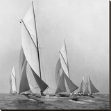 Sailboats Sailing Downwind  1920