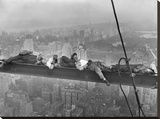 Construction Workers Resting on Steel Beam Above Manhattan  1932