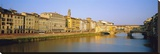 View along River Arno to Ponte Vecchio  Florence