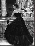 Black Evening Dress  Roma 1952