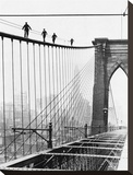 Men Walk on Brooklyn Bridge  1926