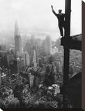 Waving from Empire State Building Construction Site  1930
