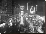 Rainy Night in Times Square  NYC 1952