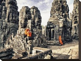 Boy Monks reading in Angkor Wat  Cambodia
