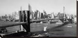 Brooklyn Bridge with Manhattan skyline  1930s