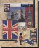 Photo-montage sur Londres Tableau sur toile par Susan Osborne