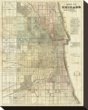 Map of Chicago  c1857