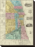 Guide Map of Chicago  c1869