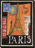 Métro, Paris Tableau sur toile par Katharine Gracey