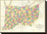 Map of Ohio and Indiana  c1839