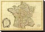 France  carte generale  c1786