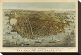 San Francisco Birds Eye View  c1878