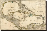Complete Map of the West Indies  c1776