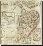 Plan of Boston Comprising a Part of Charlestown and Cambridge  c1846