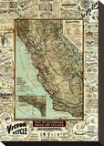 Map of California Roads for Cyclers  c1896
