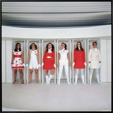 Models Wearing Fashions Designed by Andre Courreges