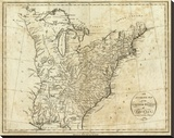 Map of the United States of America  c1796