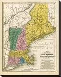 Map of the New England or Eastern States  c1839