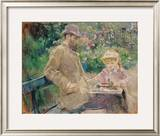 Eugene Manet (1833-92) with His Daughter at Bougival  C1881 (Oil on Canvas)