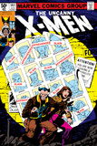 Uncanny X-Men 141 Cover: Wolverine  Pryde and Kitty Charging