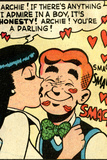 Archie Comics Retro: Archie and Veronica Comic Panel; Smack! (Aged)