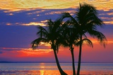 Colorful Sunset over Sombrero Beach in the Florida Keys
