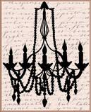 Chandelier Calligraphy I