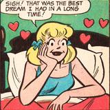 Archie Comics Retro: Betty Comic Panel; Best Dream (Aged)