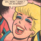 Archie Comics Retro: Betty Comic Panel; Ecstasy! (Aged)