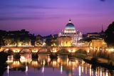 Sant'Angelo Bridge over Tiber River