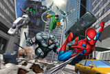 Spider-Man  Rhino  Green Goblin  and Doctor Octopus in the City
