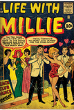 Marvel Comics Retro: Life with Millie Comic Book Cover 13  Bathing Suit  Beach Club Dance (aged)