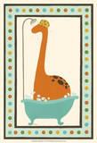 Rub-A-Dub Dino I Reproduction d'art par Erica J. Vess