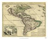 America, London, ca. 1740 Giclée par Thomas Bakewell