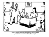 """There's a customer-satisfaction questionnaire for you to fill out and for…"" - New Yorker Cartoon"