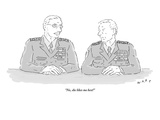 """No  she likes me best!"" - New Yorker Cartoon"
