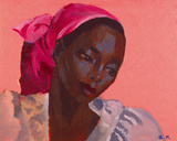 Lady in a Pink Headtie  1995