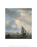 View of a Lake with Sailing Ships  ca 16501651