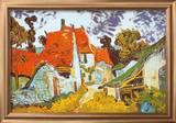 Street in Auvers (Les Toits Rouges)  c1890