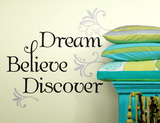 Dream Believe Discover Peel & Stick Wall Decals