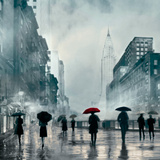 New York Red Umbrella