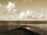 A Shingle Beach with Clouds