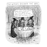 (Three witches stir a large wok) - New Yorker Cartoon