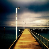 A Long Jetty with Lamp Posts
