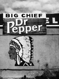 Native American Profile and Dr Pepper Sign  San Ysidro  New Mexico