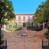 Yard of Hospital De Los Venerables Sacerdotes  Seville  Spain